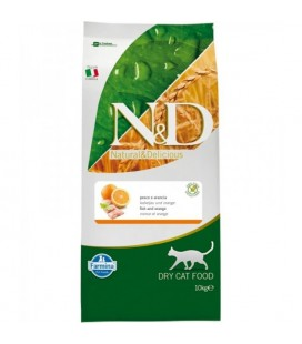Farmina N&D - Grain Free Adult cat al Pesce e Arancia da 10 kg