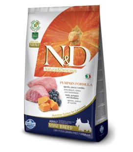 Farmina n&d pumpkin grain free adult mini agnello zucca e mirtillo 800 gr