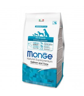 Monge all breeds cane hypoallergenic al salmone & tonno 12 kg