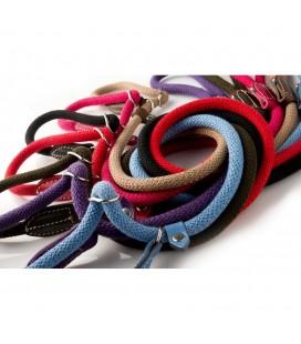 Da Vinci guinzaglio corda cotone stangolo130 cm lunghezza x 12 cm diametro diametro rosso