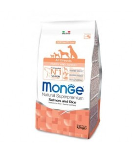Monge all breeds Puppy& Junior salmone e riso 800 gr