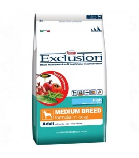 Exclusion Mediterraneo Adult Medium con pesce kg.12.5