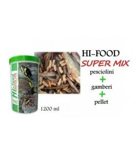 Ottavi Hi-Food per tartarughe con pesciolini + gamberi + pellet 1 Lt