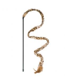 Karlie Jungle cat canna con coda leopardata e piume