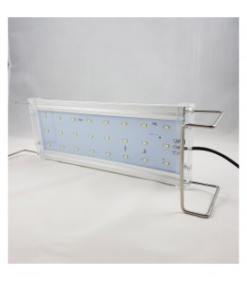 Deebow DEE-45 plafoniera slim per acquari acqua dolce con piante 45 cm 18 watt argento