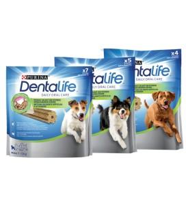 Purina Dentalife Snack per pulizia denti cani Small 21 pezzi gr.345 per cani 7/12 kg