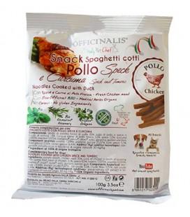 Officinalis snack spaghetti cotti con Pollo ,Speck e Curcuma 100 gr