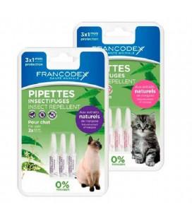 Francodex Antiparassitario effetto repellente per gatti 3x0,6ml gatti adulti e cuccioli