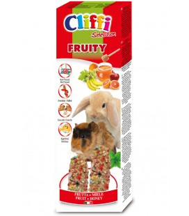 Cliffi stick per conigli e cavie Fruity alla frutta gr .110