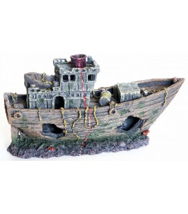 Velma decorazione relitto di nave 29x11x17.5 cm