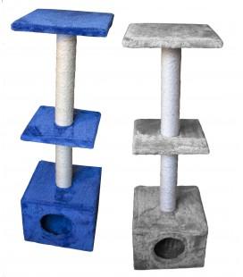 Velma tiragraffi a 3 piani 30x30x91 cm colore blu/grigio