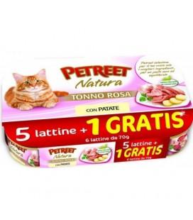 Petreet Natura tonno rosa con patate Confezione risparmio 5+1 omaggio da 70 gr