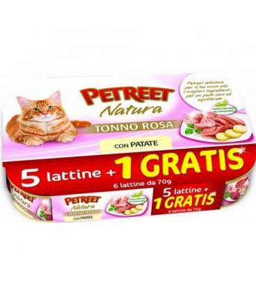 Petreet Natura tonno rosa confezione risparmio 5+1 omaggio da 70 gr