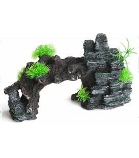 Velma decorazione roccia a ponte 30x11x20 h cm