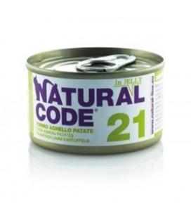 Natural Line Code gatto 21 tonno agnello e patate jelly gr 85