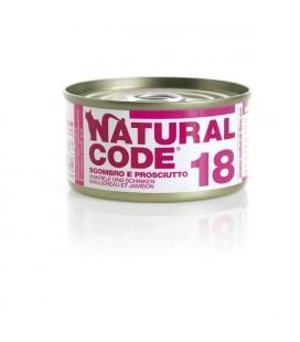 Natural code 18 gatto sgombro e prosciutto 85 gr