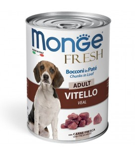 MONGE FRESH BOCCONI IN PATE' ADULT VITELLO 400 GR.