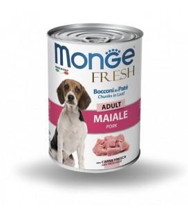 Monge cane fresh adult bocconi in pate' al maiale da 400 gr in lattina
