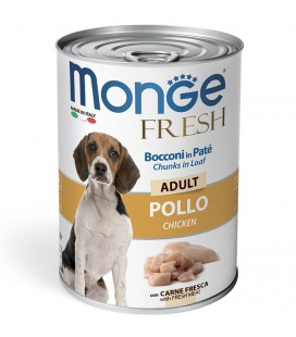MONGE FRESH BOCCONI IN PATE' ADULT POLLO 400 GR.