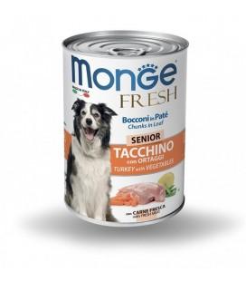 Monge Fresh Senior Bocconcini in Patè con Tacchino e Ortaggi 400 gr