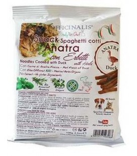 Officinalis snack spaghetti cotti con anatra e erbette 100 gr
