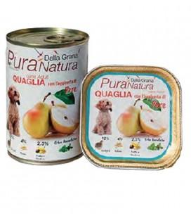 Dalla Grana Pura natura alimento umido per cani con quaglia e aggiunta di pere 400 gr