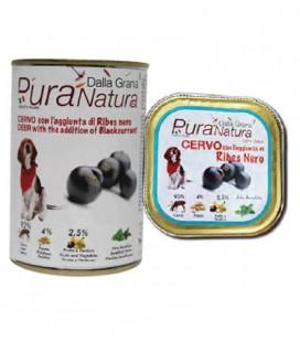 Della Grana Pura Natura alimento umido per cani con cervo e ribes nero 400 gr