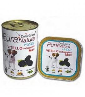 Dalla Grana Pura Natura alimento umido per cani cuccioli con vitello e more 400 gr