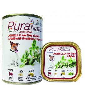 Della Grana Pura natura alimento umido per cani con agnello e timo e salvia 400 gr