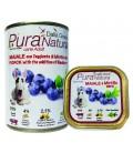 Dalla Grana Pura natura alimento umido per cani con maiale e mirtillo nero 400 gr