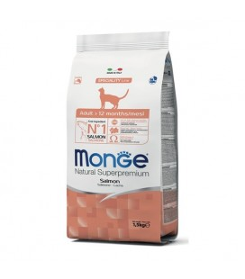 Monge Natural Superpremium Adult cat con Salmone 400 gr