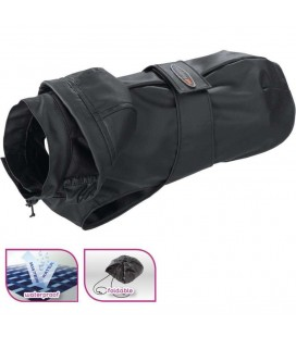 FERPLAST CAPPOTTINO IMPERMEABILE ANTI-VENTO PER CANI TRENCH BLACK TG. 28