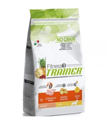 Trainer fitness 3 adult mini coniglio patate olio 800 gr