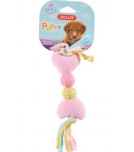 Zolux gioco pelluche Xs per cuccioli con cuori rosa
