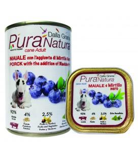 Dalla Grana Pura natura alimento umido per cani con BUFALO E LAMPONI 150gr