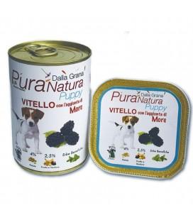 Dalla Grana Pura Natura alimento umido per cani con vitello e more per cuccioli 150 gr