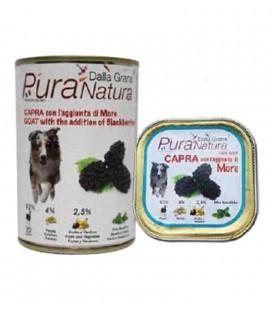 Dalla Grana Pura natura alimento umido per cani con capra e more 400 gr