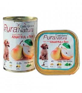 Dalla Grana Pura natura alimento umido per cani con anatra e pera 400 gr