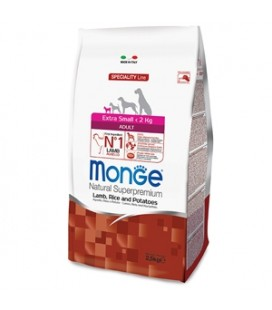 Monge - Natural Superpremium Extra Small Adult Agnello, Riso e Patate gr.800