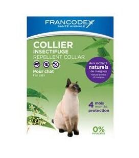Francodex Collare per gatti antiparassitario all'olio di neem con estratti 100% naturali