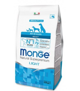 Monge Dog All Breed Adult Light Salmone e Riso 2.5 Kg