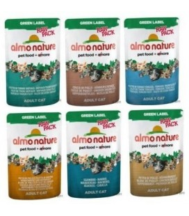 Almo Nature gatto green label raw pack 55 GR bustine