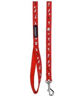 Amiplay Guinzaglio naylon con decorazioni XL 150 cm x 2.5 cm rosso