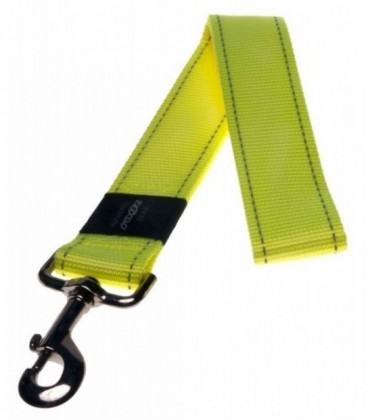 Rogz Landing strip Guinzaglio naylon riflettente XXL larg. 40 x lung.54 cm giallo luminoso