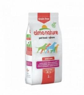 Almo Nature Grain free crocchette cani adulti M/L maiale e patate kg 12