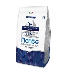 Monge natural Superpremium crocchette adult medium 10-32 kg con pollo kg 3