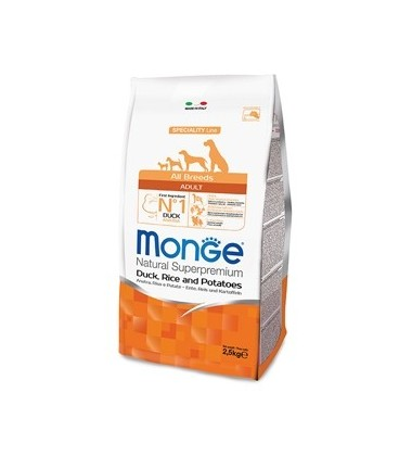 Monge Natural Superpremium adult all breeds con antra riso e patate 2,5 kg