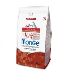 Monge Natural Superpremium Puppy sotto i 10 kg crocchette agnello e riso gr.800