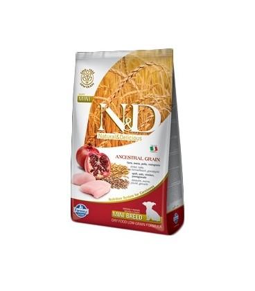 Farmina N & D Low Ancestral Grain PuppyMini farro ,avena,pollo e melograno gr.800