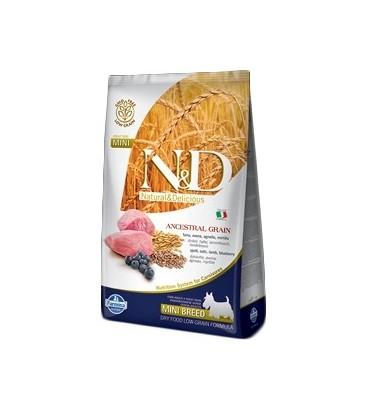 Farmina N & D Low Ancestral Grain Adult Mini farro ,avena,agnello e mirtillo gr.800